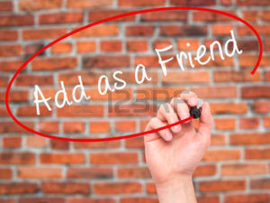 as a friend-