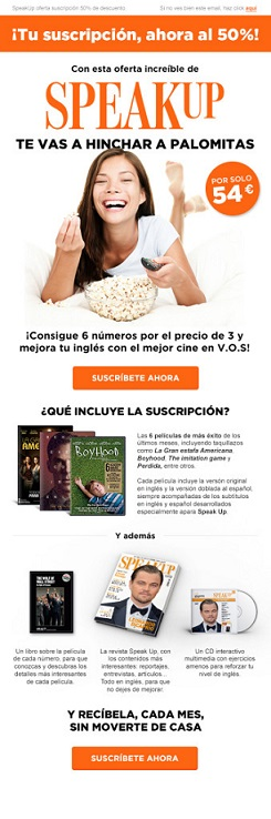 Oferta exclusiva en revista Speak Up